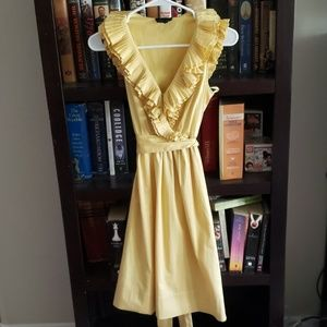 Max and Cleo Yellow Ruffled Dress Size 2
